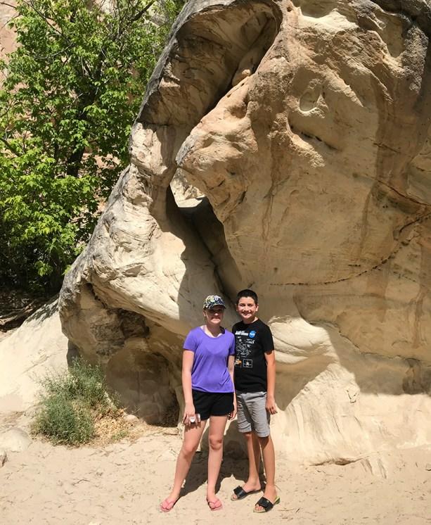 Natalie and Carter Bourn Hiking in Utah