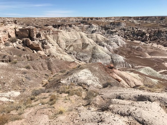 Views of the Painted Desert in Petrified Forest National Park