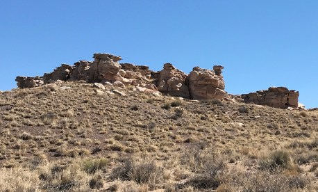 Rock Formations Along Blue Mesa Road