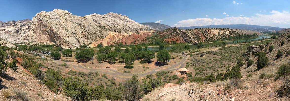 Split Mountain Campground and Picnic Area in Dinosaur National Monument
