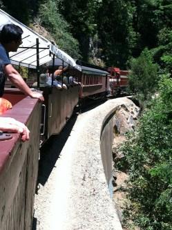 Train Ride From the Santa Cruz Beach Boardwalk To Roaring Camp in 2012