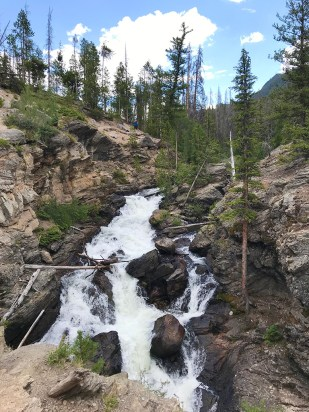 Adams Falls Is A Waterfall In Rocky Mountain National Park