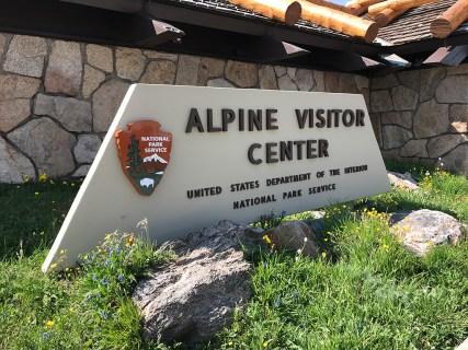 Alpine Visitor Center Sign