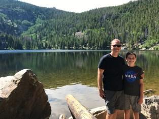 Brian and Carter Bourn at Bear Lake