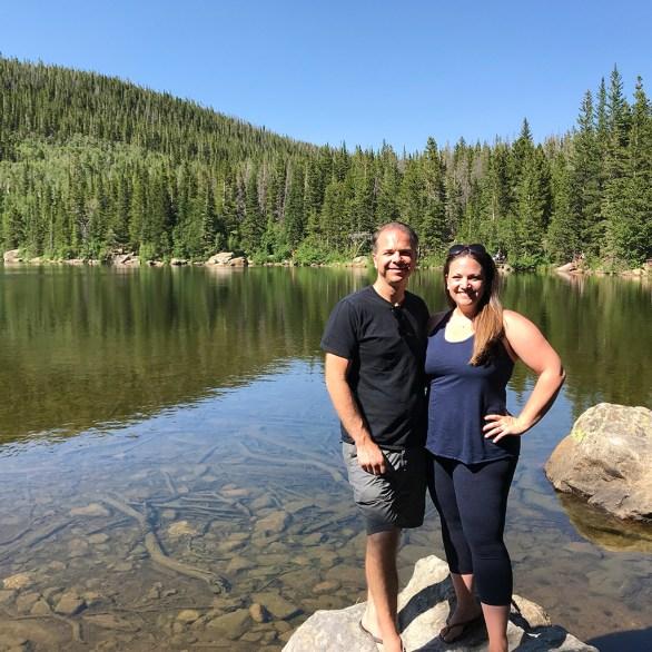Brian and Jennifer Bourn on the Bear Lake Loop Trail