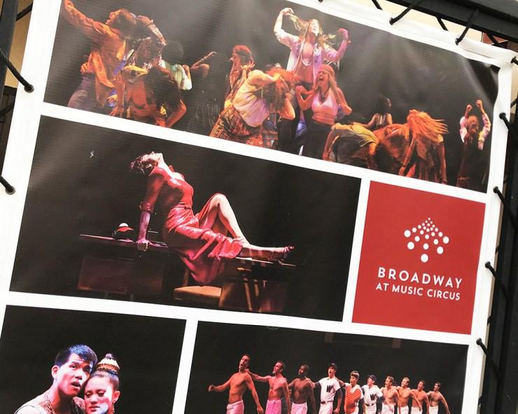 Broadway At Music Circus Signage