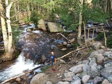 Carter Bourn Exploring Glacier Creek