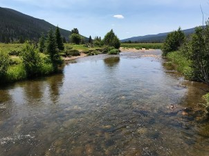 View Downstream of the Colorado River in Rocky Mountain National Park