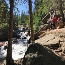 Glacier Creek cascading below Chasm Falls