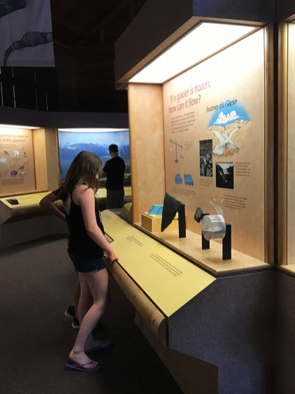 Museum Exhibits at the Moraine Park Discovery Center on Bear Lake Road