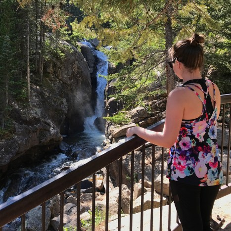Natalie Bourn at CHasm Falls in Rocky Mountain National Park