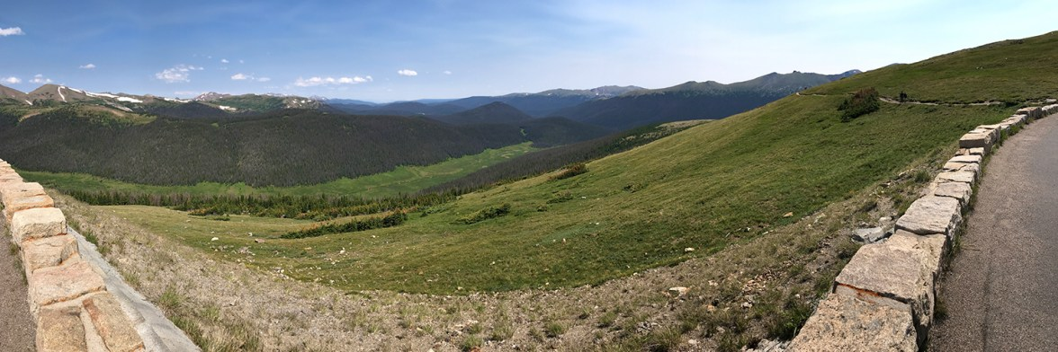 Panoramic View From Medicine Bow Curve Overlook of the Cache La Poudre River