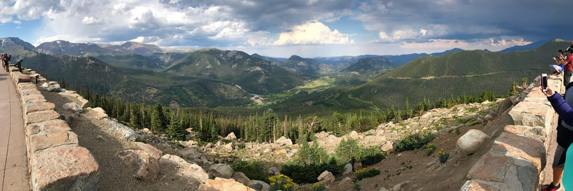Rainbow Corve Scenic Overlook On Trail Ridge Road