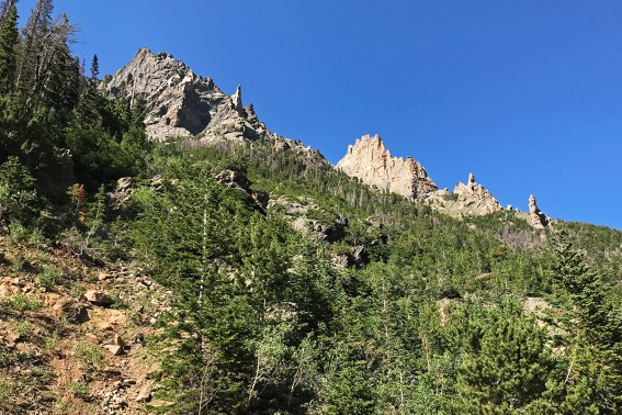 Rock SPires Along Old Fall River Road in Rocky Mountain National Park