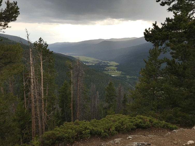 Thunder Storms At Farview Curve Overlook in Rocky Mountain National Park