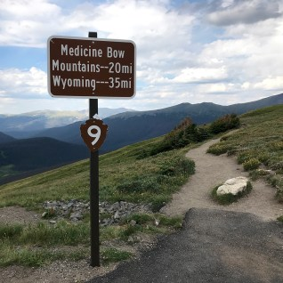 Trail Sign At Medicine Bow Curve