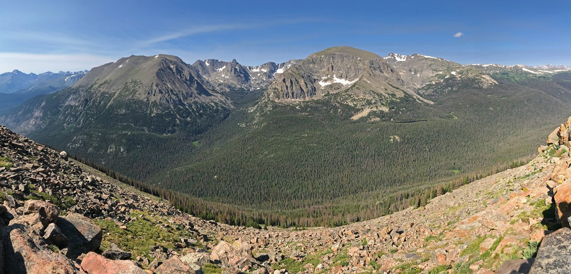 View From Forest Canyon Overlook on Trail Ridge Road