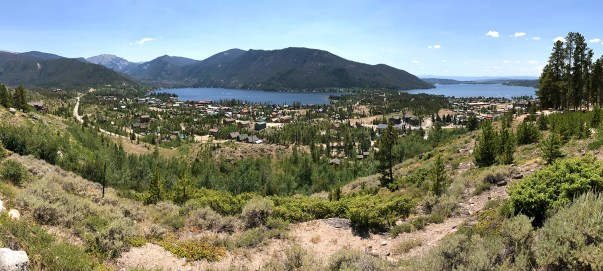 Panoramic View of Grand Lake From The Lodge
