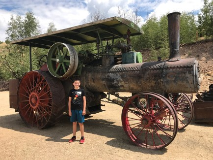 Carter Bourn Checking Out Old Gold Mining Equipment