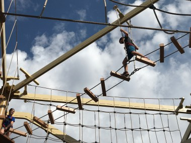 Carter Bourn On The Wind Walker Challenge Course
