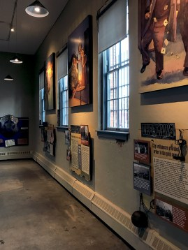 Displays at the Outlaws and Lawmen Jail Museum