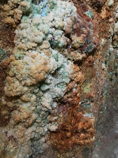 Epsom Salt Covering the Mine Walls