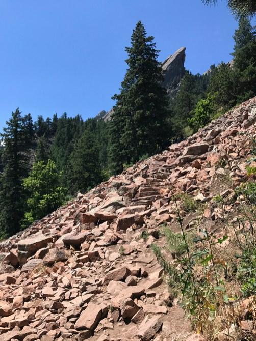 Flatirons Loop Trail Rock Stairs
