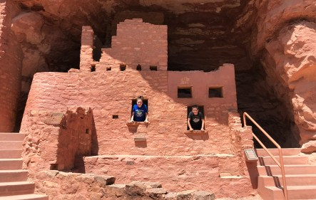 Natalie and Carter Bourn Exploring the Anasazi Cliff Dwellings