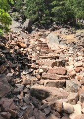 Rock Stairs on the Flatirons Loop Trail