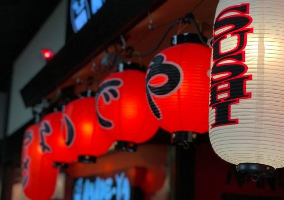 Sushi Restaurant Paper Lanterns