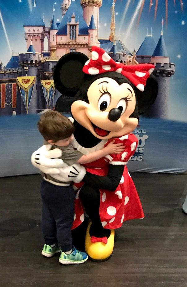Bennett Hugging Minnie