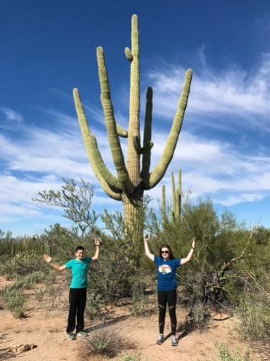 Carter and Natalie Bourn Standing Like a Saguaro