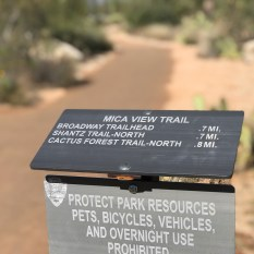 Mica View Trailhead Sign