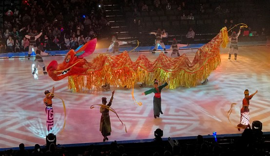 Mulan Dragon in Disney On Ice