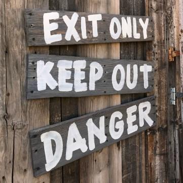 Old Tucson Mine Sign