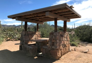 Picnic Shelter at ther Signal Hill Picnic Area at Saguaro National Park
