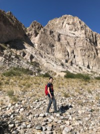 Carter Bourn Hiking into Boquillas Canyon