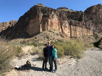 Carter, Brian, and Natalie in Big Bend National Park