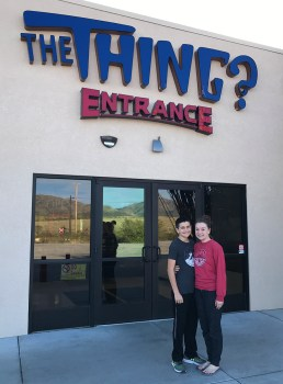 Carter and natalie Bourn at The Thing Entrance