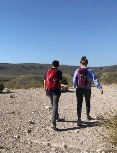 Natalie and Carter Bourn Hiking at Big Bend