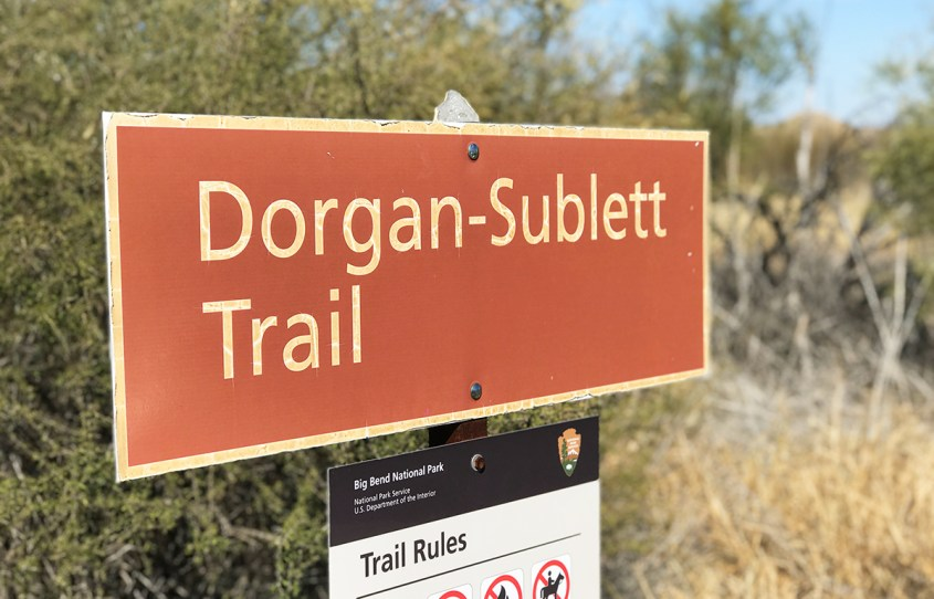 Dorgan-Sublett Trail Sign