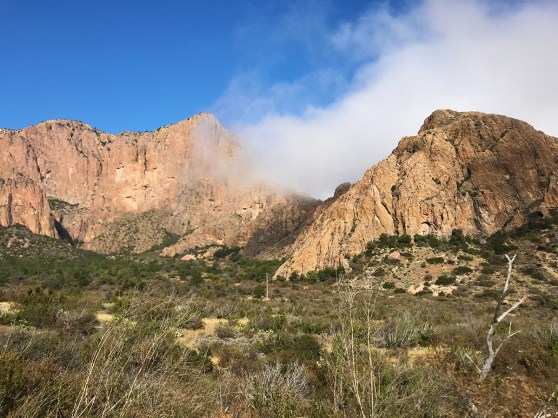Fog and Clouds around the Chisos Mountains