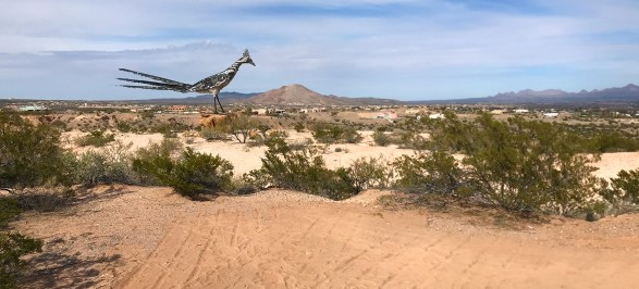Las Cruces Rest Stop Roadrunner Statue