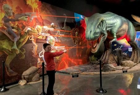 Natalie Bourn Battling Aliens and Dinosaurs