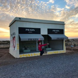 Natalie Bourn outside Prada Marfa