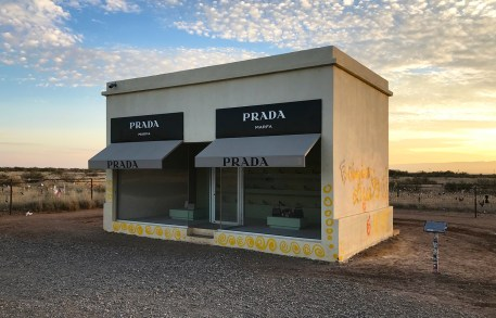 Prada Marfa at Sunset