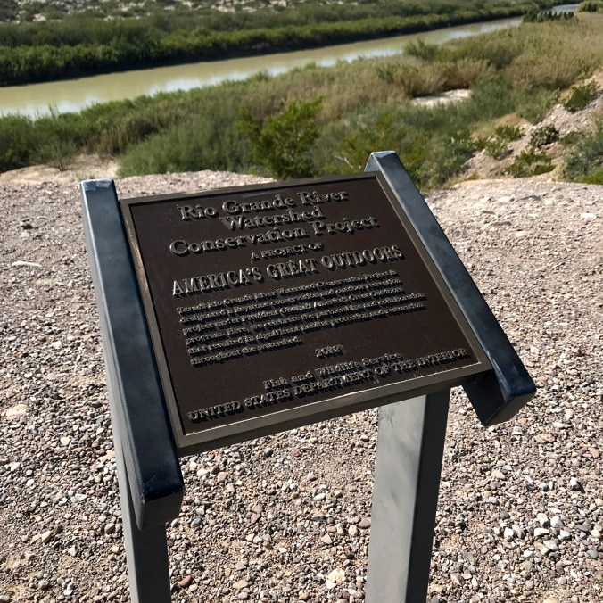 Rio Grande River Watershed Project Sign