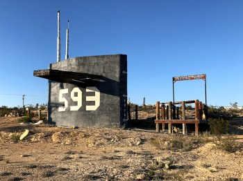 Sand-locked Submarine in Terlingua Ghost Town