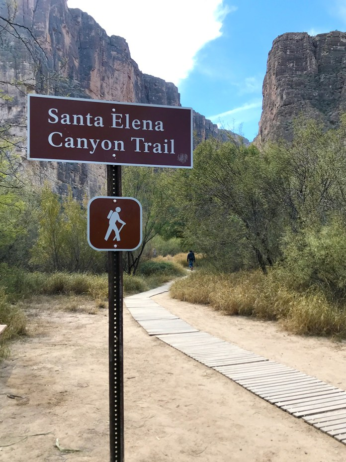 Santa Elena Canyon Trail Sign