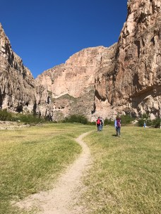 Walking into Boquillas Canyon